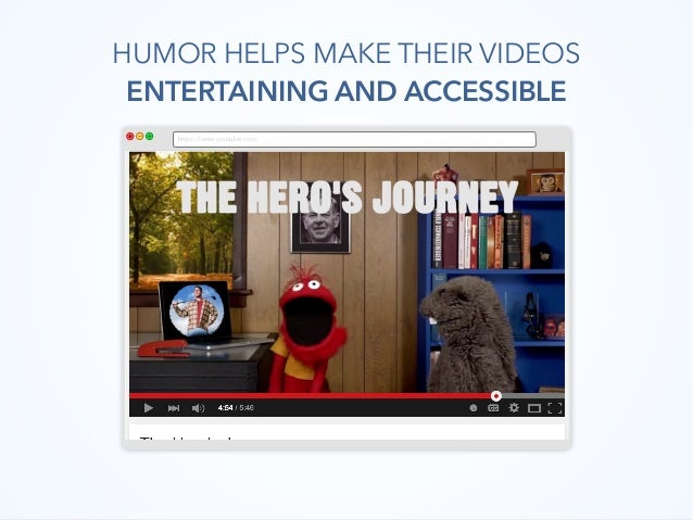 https://www.youtube.com HUMOR HELPS MAKE THEIR VIDEOS ENTERTAINING AND ACCESSIBLE