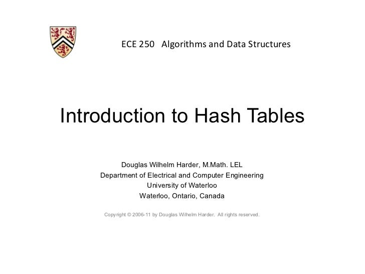 Introduction to Hash Tables
