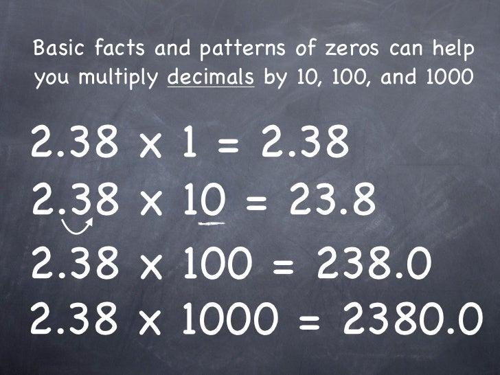 6-1 Mental Math: Multiplying Decimals by 10, 100, 1000