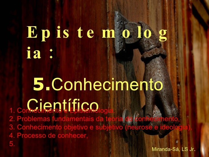 Curso de Epistemologia 5/6