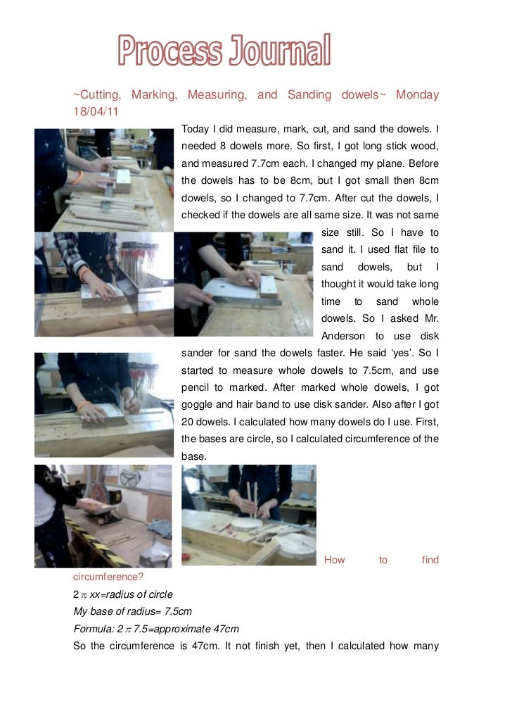 ~Cutting, Marking, Measuring, and Sanding dowels~ Monday 18/04/11<br />16002005080000-5715005080000-571500342900014859001...