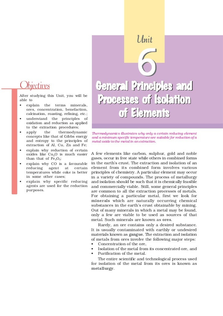 UnitObjectives                                     General Principles and                                               Ge...