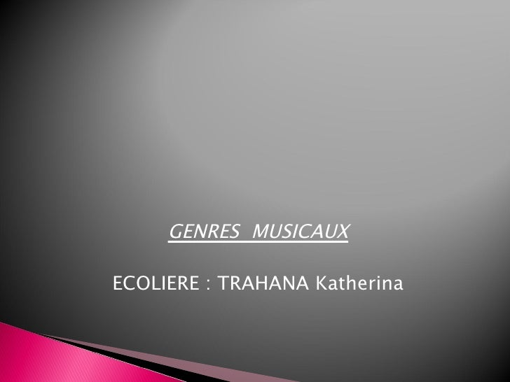 GENRES MUSICAUXECOLIERE : TRAHANA Katherina