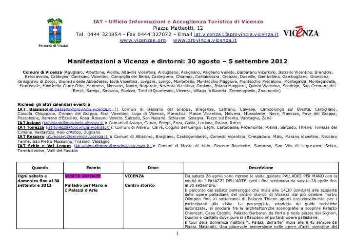 IAT - Ufficio Informazioni e Accoglienza Turistica di Vicenza                                                             ...