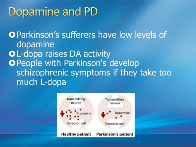 • Amphetamines and cocaine lead to increase in DA levels • Large quantities lead to delusions and hallucinations • If drug...