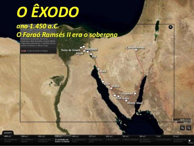 O ÊXODO ano 1.450 a.C. O Faraó Ramsés II era o soberano