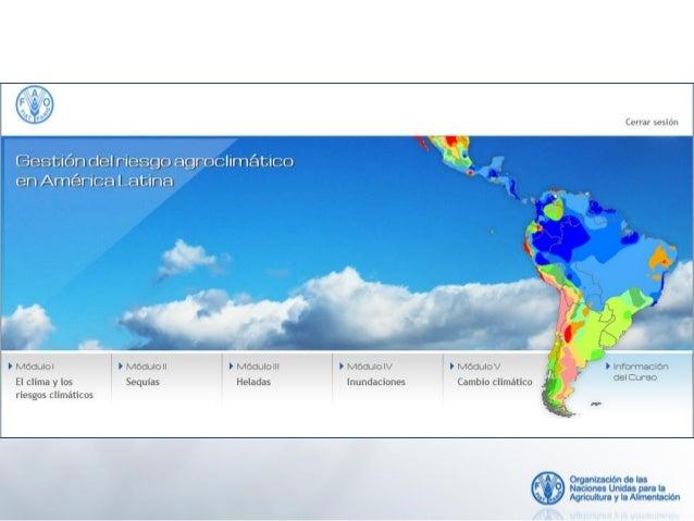 """Curso """"Gestión de la variabilidad y el cambio climático y eventos extremos en América Latina"""". Material de Referencia y NO..."""
