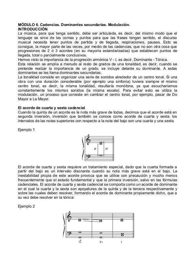 musica 6. cadencias. dominantes secundarias. modulación