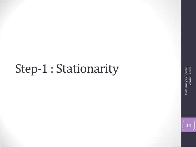 Step-1 : Stationarity DataAnalysisCourse VenkatReddy 14