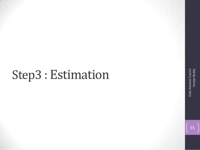 Step3 : Estimation DataAnalysisCourse VenkatReddy 55