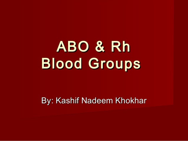 6 abo and rh blood typing