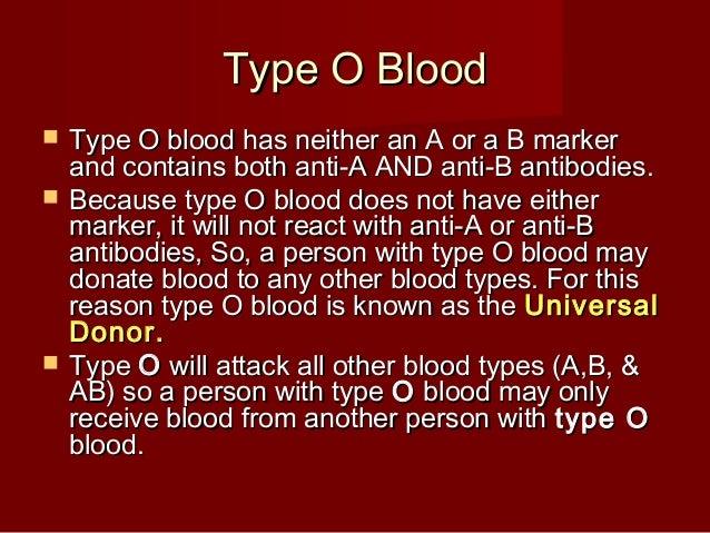 rh o-negative blood