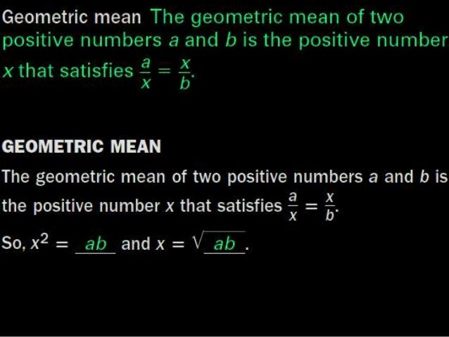how to solve geometric mean
