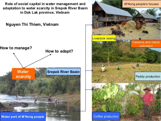 Role of social capital in water management and adaptation to water scarcity in Srepok River Basin in Dak Lak province, Vie...