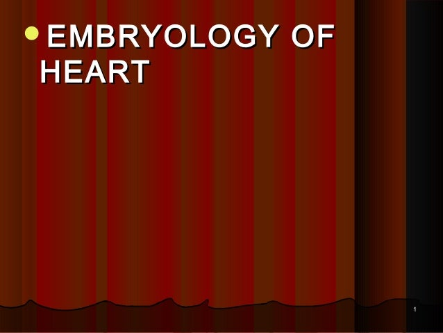 EMBRYOLOGY  HEART  OF  1