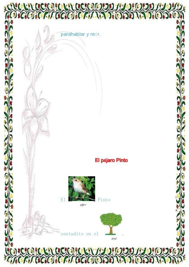 parahablar y reír.  El pájaro Pinto  El  Pinto pájaro  sentadito en el a  , árbol