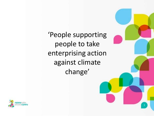 'People supporting people to take enterprising action against climate change'  1