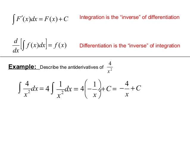 6 2 the indefinite integral