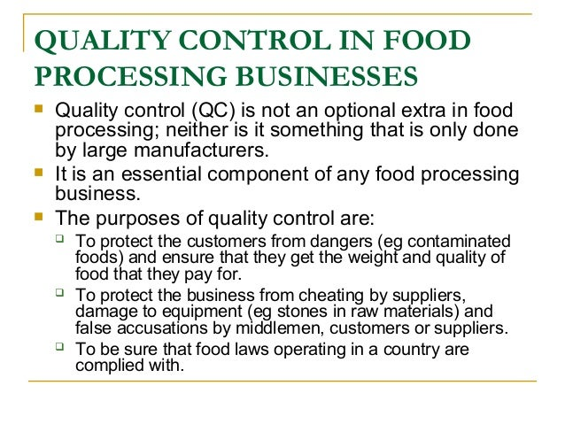 Food Analysis Quality Control