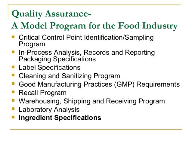quality standards for food products essay Food and pesticides pesticides are widely used in producing food to control pests such as insects, rodents, weeds, bacteria, mold and fungus under the food quality protection act (fqpa), epa must ensure that all pesticides used on food in the united states meet fqpa's stringent safety standard.