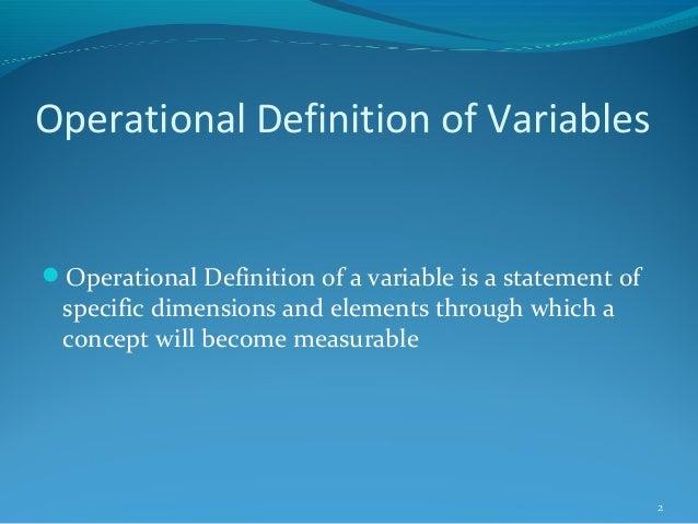 6. operationalization of variables Slide 2