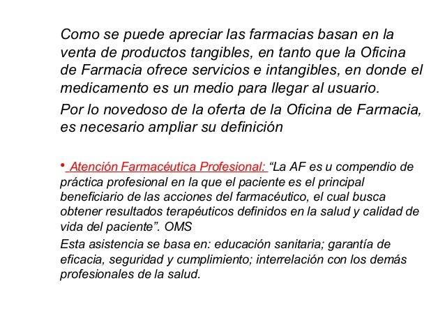 6 farmacia comunitaria for Practica de oficina definicion