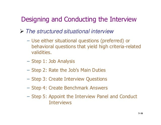 what is situational interview