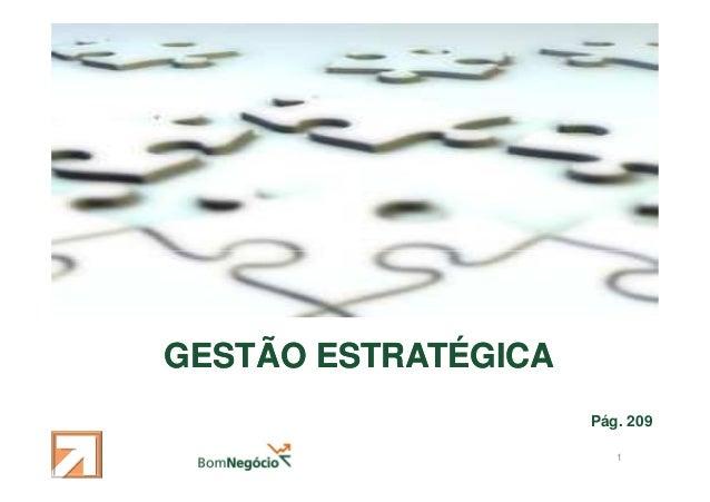 GESTÃO ESTRATÉGICA Pág. 209 1