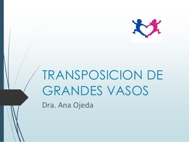 TRANSPOSICION DE GRANDES VASOS Dra. Ana Ojeda