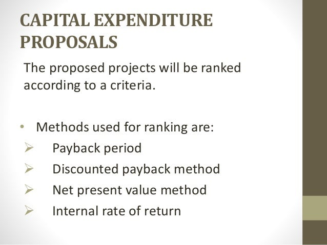 Capital expenditure essay for Capital expenditure proposal template