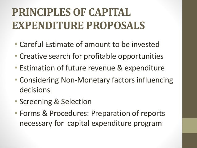capital expenditure policy template