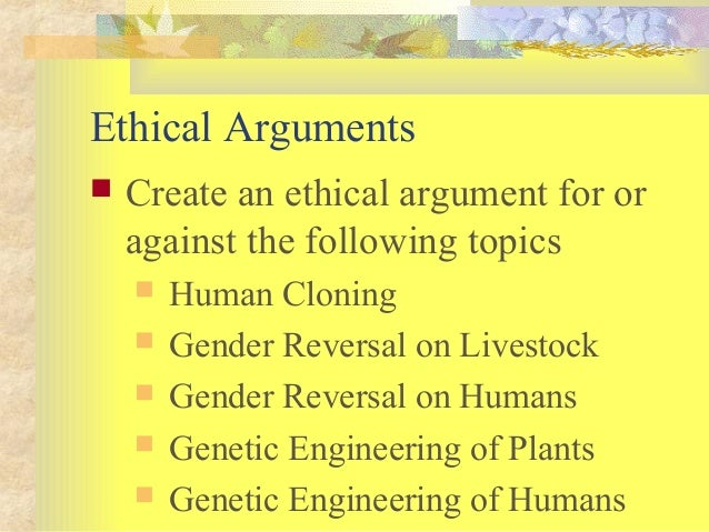An argument against genetic engineering