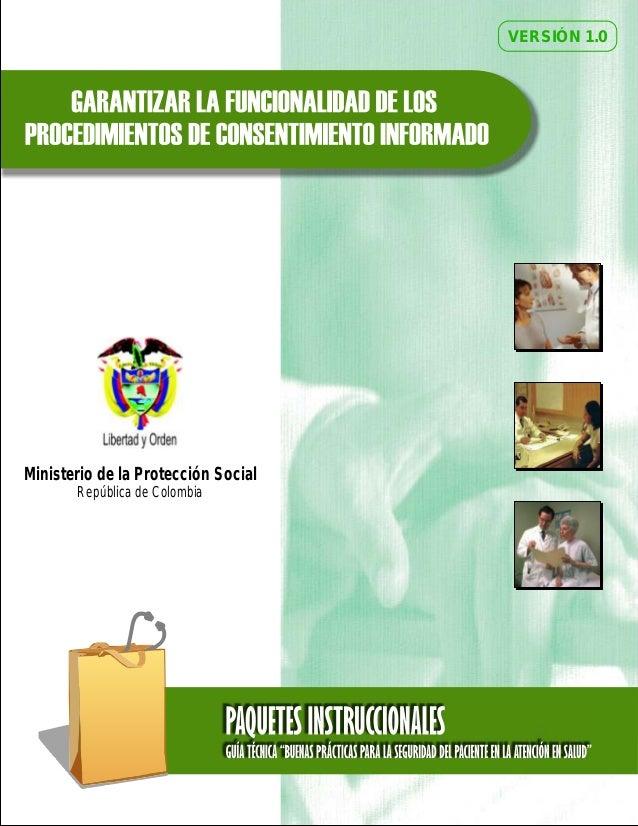 VERSIÓN 1.0 Ministerio de la Protección Social República de Colombia