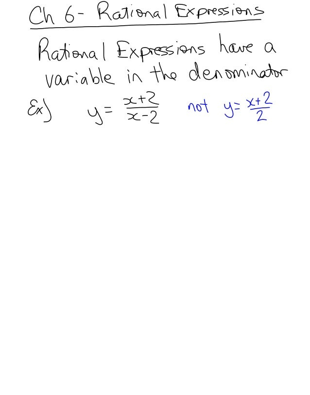 6.1   rational expressions