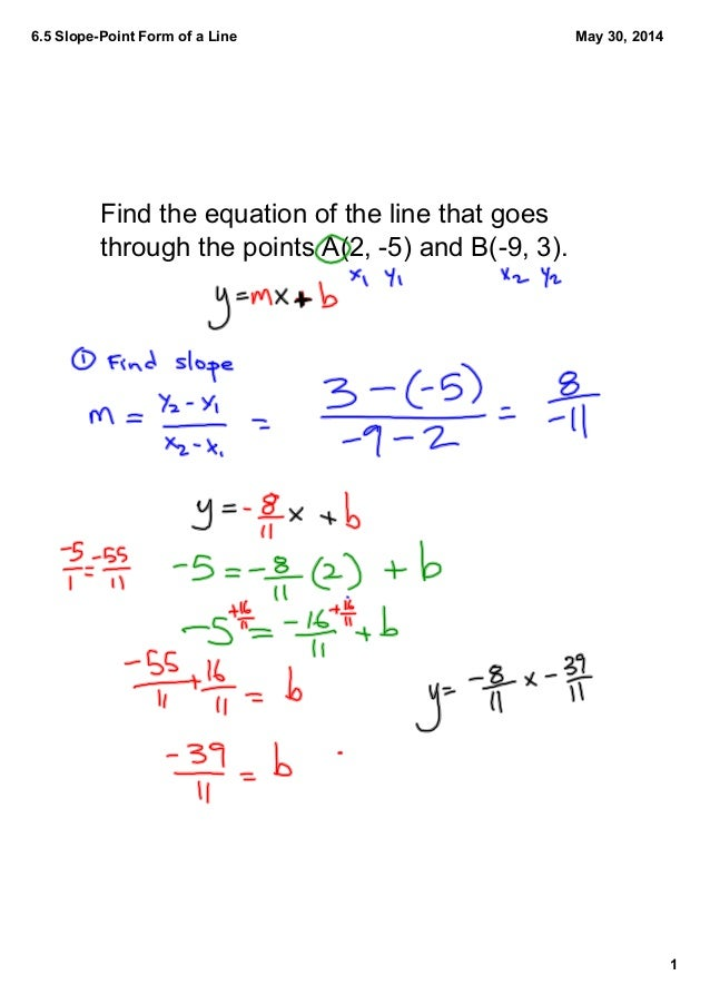 6.6 General Form of a Line