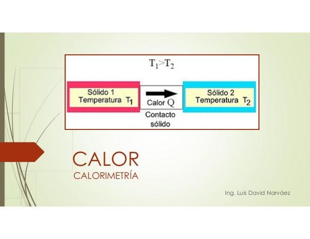 CALORIMETRÍA Ing. Luis David Narváez CALOR