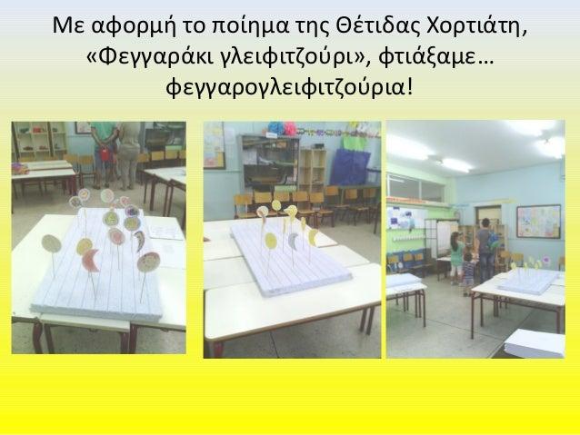 Με αφορμή το ποίημα της Θέτιδας Χορτιάτη, «Φεγγαράκι γλειφιτζούρι», φτιάξαμε… φεγγαρογλειφιτζούρια!