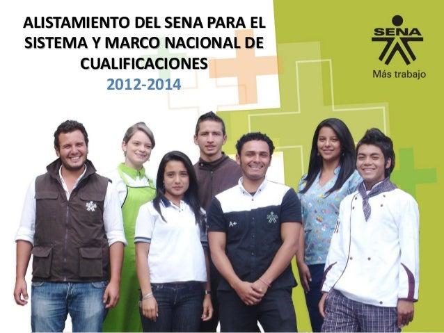 ALISTAMIENTO DEL SENA PARA EL SISTEMA Y MARCO NACIONAL DE CUALIFICACIONES 2012-2014
