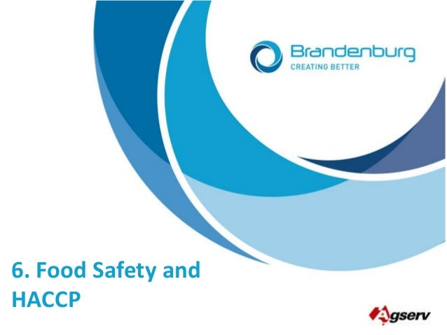 6. Food Safety and HACCP