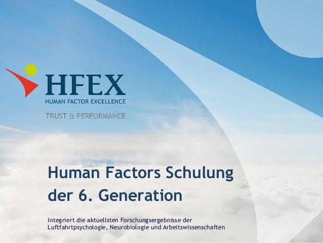 Human Factors Schulung der 6. Generation Integriert die aktuellsten Forschungsergebnisse der Luftfahrtpsychologie, Neurobi...