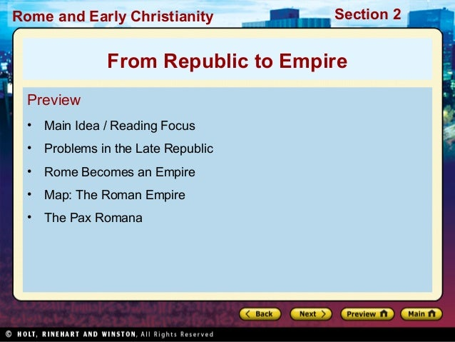 World history ch 6 section 2 notes world history ch 6 section 2 notes rome and early christianity section 2 from republic to empire preview main idea reading gumiabroncs Images