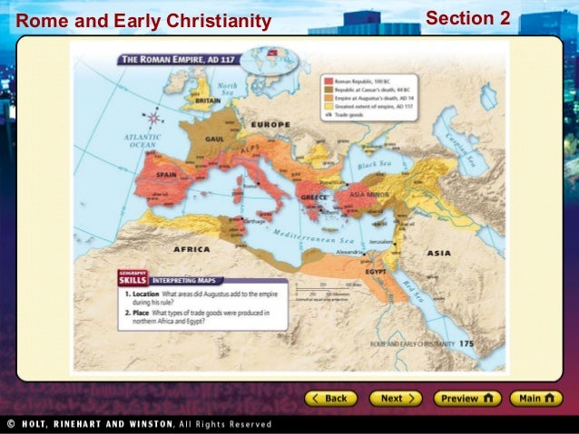 World history ch 6 section 2 notes rome and early christianity section 2 gumiabroncs Images