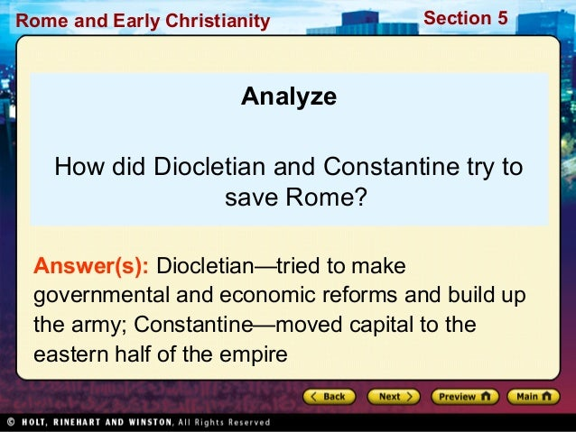 reforms of diocletian Dioceses of diocletian diocese was the name given to the 12 new territorial divi sions of the roman empire in the provincial reforms of diocletian the problem.