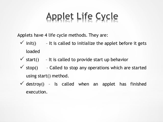 Applet examples.