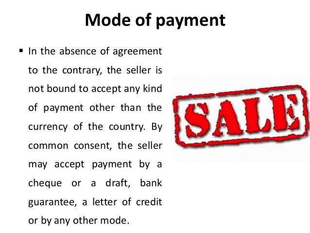 Sales Of Goods Act Agreement To Sell - Legal Environment Of Busines…