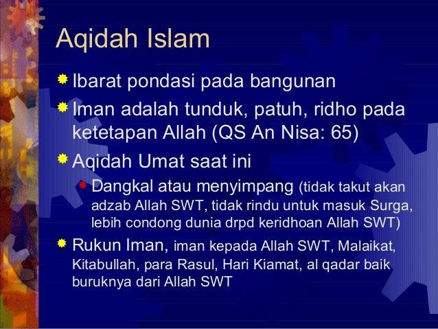6. membangun akidah kokoh kepribadian ISLAM Slide 2
