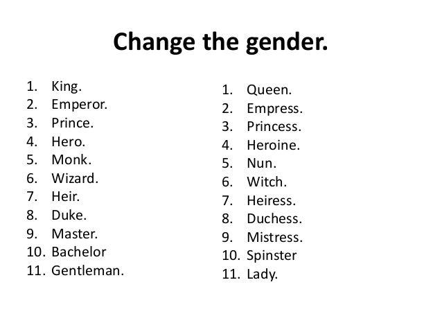 English Quiz - Gender - Manu Melwin Joy