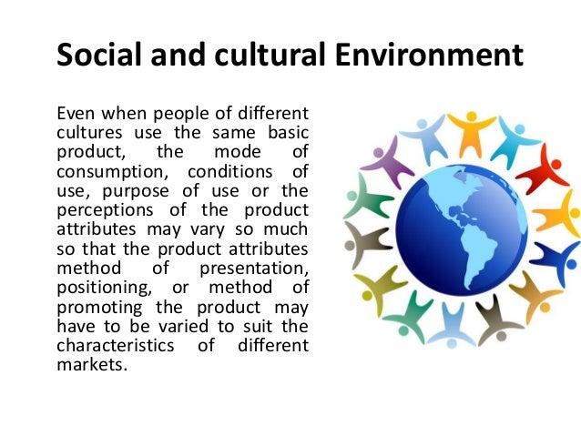 characteristics of socio cultural environment