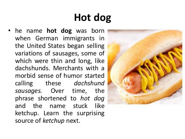 Who Made The Name Hot Dog