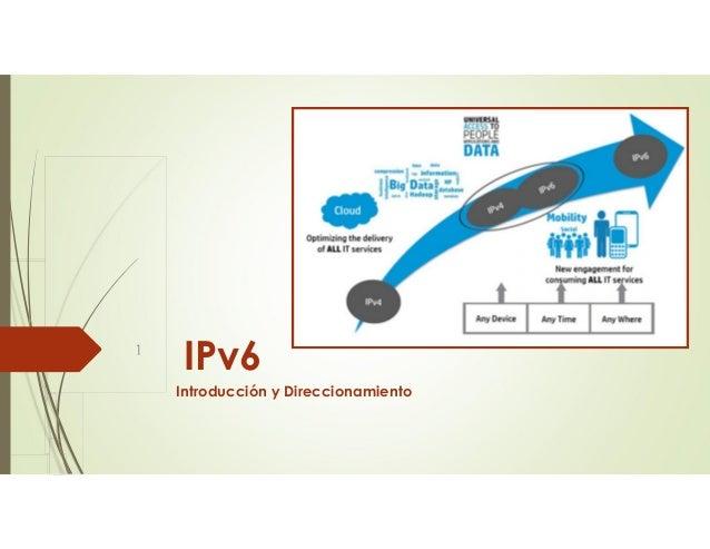 IPv6 Introducción y Direccionamiento 1